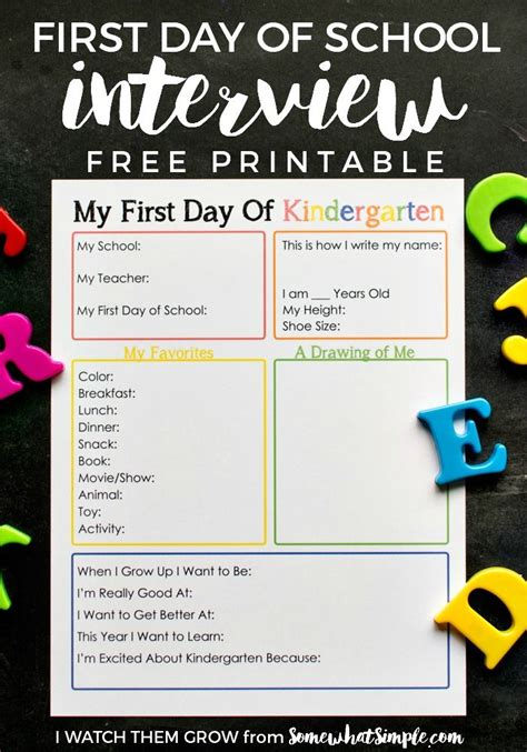 last day of school printable interviews 510 | ccb5013ce48d2575e7cba1b757c36db7