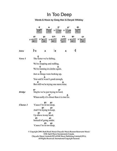 sinking deep guitar chords piano deep piano chords deep piano and deep piano chords