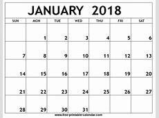 Blank Calendar 2018 – printable calendar templates