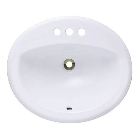 White Overmount Bathroom Sink by Polaris Sinks Overmount Porcelain Bathroom Sink In White