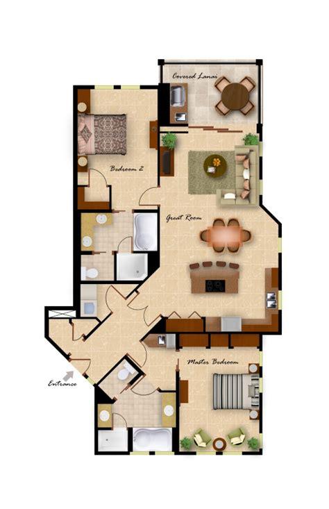 2 Bedroom Floor Plan Layout by Kolea Floor Plans