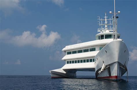 Catamaran Boat Images by Big White Catamaran Boat Stock Photo Image Of Summer