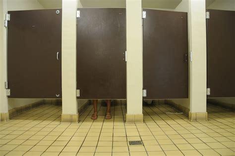 bathroom stall conversation
