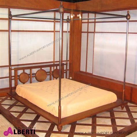 letto matrimoniale a baldacchino legno letto baldaccmarrakech160x200x200