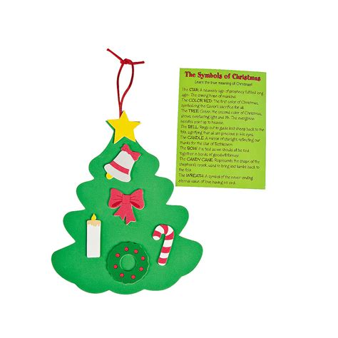 symbols of christmas ornament craft kit oriental trading