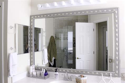 Bathroom Mirror Frame Kits by Easy Bathroom Update With Diy Mirror Frame Kit From Frame