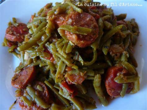 la cuisine d ariane haricots verts au chorizo test des recettes du concours