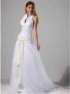 a line princess halter court train organza wedding dress With robe de cocktail combiné avec tracker activité femme