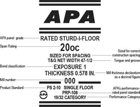 Sturd I Floor Osb by Osb Trademarks Apawood Europe