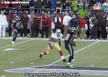 eric reid injury ers safety hits head making tackle