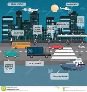 Transportation Infographics Stock Vector