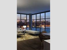 Floor to ceiling windows, with a bright panoramic view! I