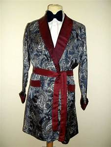 vintage mens st michael 1950s 60s tricel smoking jacket With robe smoking femme