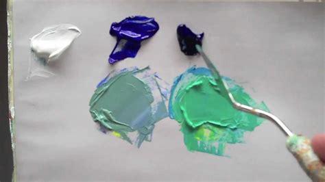 colour mixing basics acrylic colour bias youtube