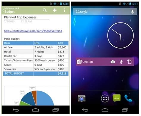 onenote app for android microsoft updates onenote for android now includes