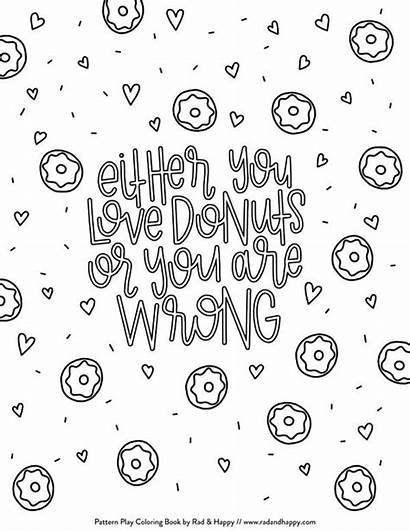 Coloring Pages Donut Treats Printable Sweet Donuts