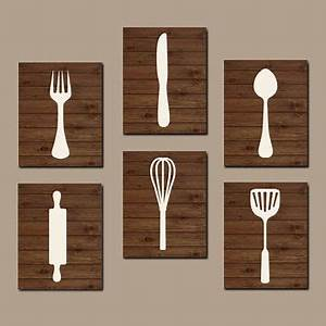 Wall art ideas design best kitchen wooden utensil wall for Best brand of paint for kitchen cabinets with hanging canvas wall art