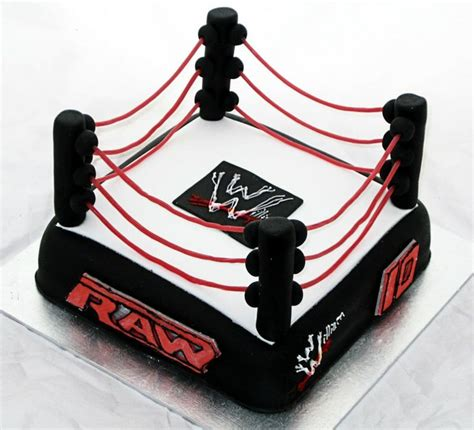 wwe raw for the wwe enthusiast an edible wrestling ring