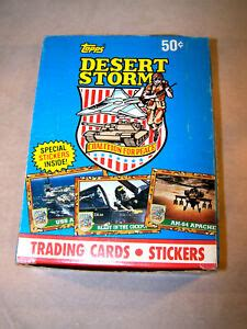 Military officers, weapons, and hardware. 1991 Topps Desert Storm Series 1 TRADING CARDS 36 Pack Wax Box | eBay