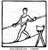 Tightrope Walker Clipart Icon Circus Illustration Prawny Royalty Vector Regarding Notes Clipartof sketch template