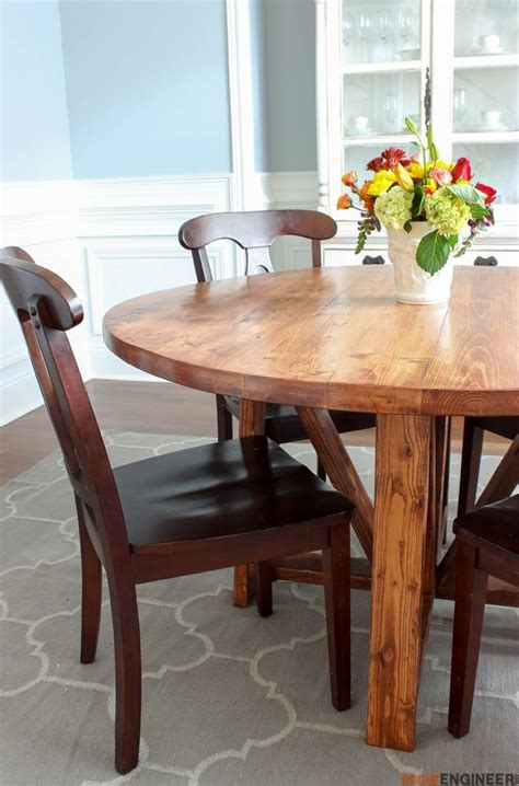 diy round dining table round trestle dining table free diy plans