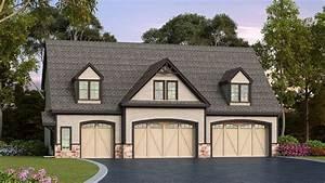 Residential 5-car Detached Garage Plan