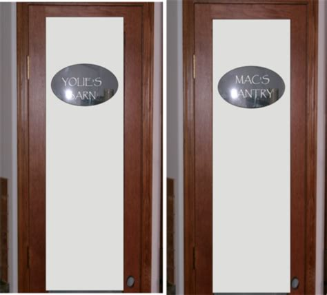 Glass Pantry Doors by Safari Signs Portfolio