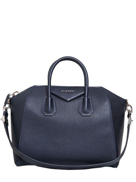 lyst givenchy medium antigona grained leather bag  blue