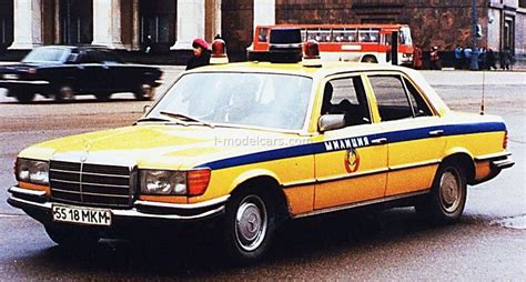 The w116 model is a sedan car manufactured by mercedes benz, sold new from year 1972 until 1980, and available after that as a used car. USSR - 1970's - Mercedes W116 450 SEL   Автомобиль, Автомобили, Полиция