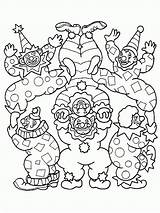 Coloring Pages Clown Circus Printable Scary Print Clowns Comments Coloring2print sketch template
