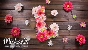 how to make a floral letter michaels youtube With letter ornaments michaels