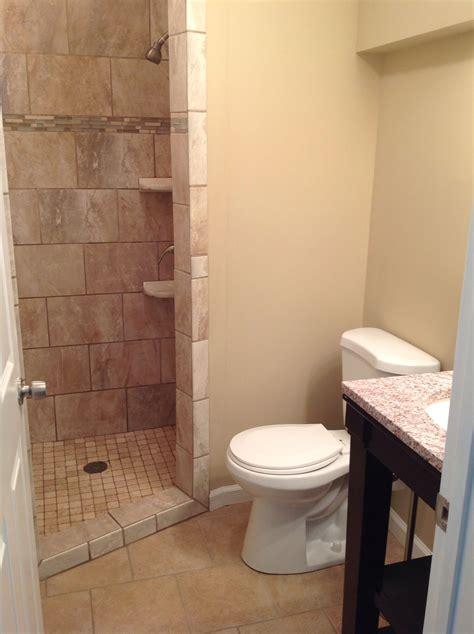 small bathroom  custom walk  shower