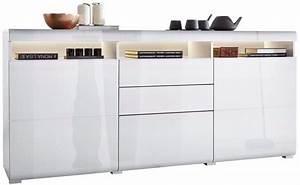 Sideboard Weiß Hochglanz 180 : roomed sideboard breite 180 cm online kaufen otto ~ Bigdaddyawards.com Haus und Dekorationen