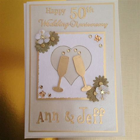 Golden wedding anniversary card 50th anniversary cards