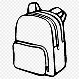Coloring Backpack Cartoon Clipart Drawing Bags Transparent Clip Luggage Plastic Craftedhere Library sketch template