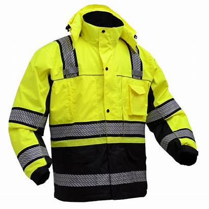 Gss Safety Winter Jacket Hi Viz Parka