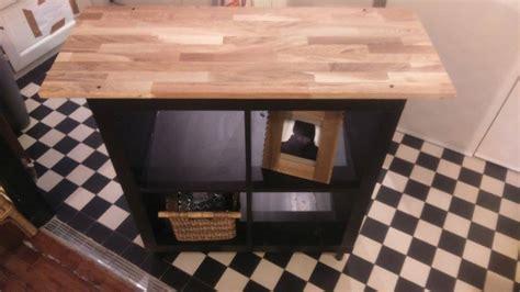bureau et etagere relooking meuble kallax 4 cases bidouilles ikea