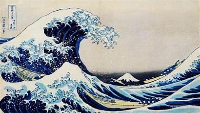 Wave Waves Japanese Ocean Wallpapers Water Artwork
