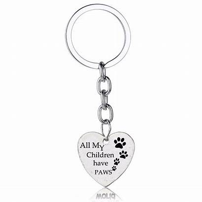 Key Paws Chains Heart Dog Children Gifts