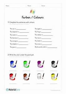 Farben Auf Englisch : neu ein kostenloses englisch arbeitsblatt zum thema farben colours f r die grundschule auf ~ Orissabook.com Haus und Dekorationen
