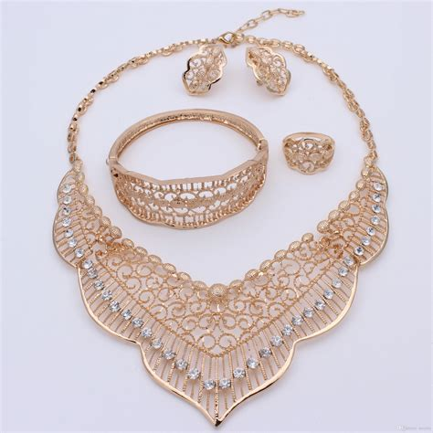gold plated set jewelry gold plated indian jewelry set
