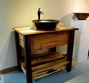 Waschtischplatte Holz Rustikal : 70 einmalige modelle von waschtisch aus holz ~ Sanjose-hotels-ca.com Haus und Dekorationen