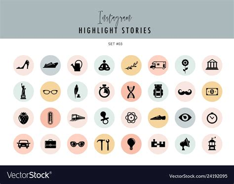 Tag me in your stories to let me know if you used them too. Instagram highlights stories covers icons Vector Image