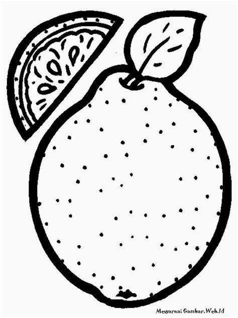 mewarnai gambar buah jeruk mewarnai gambar