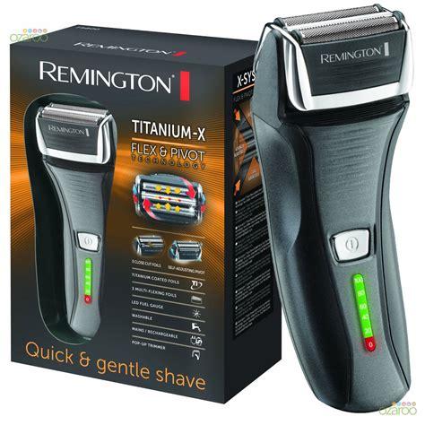 remington mens titanium foil facial hair removal pivot flex shaver