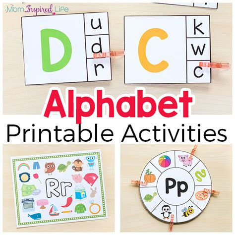 alphabet printables and activities for preschool and 761 | Alphabet Activities Printable Pack FB 2