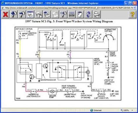 saturn wiper motor wiring diagram 1997 saturn sc1 wipers my wipers work low speed intermittent