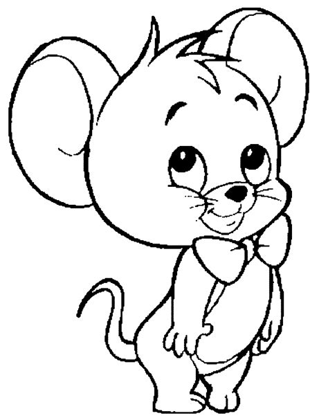 mouse coloring pages kidsuki