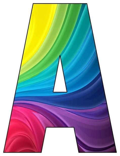rainbow waves printable letters