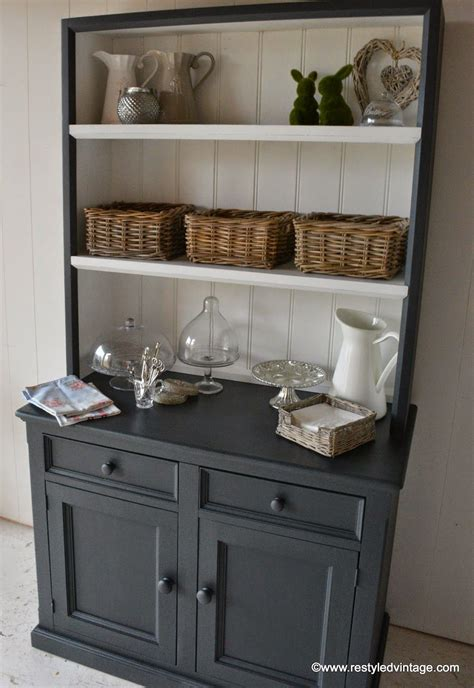 Kitchen Hutch Painting Ideas by Restyled Vintage Sloan Chalk Paint Ascp Cabinets